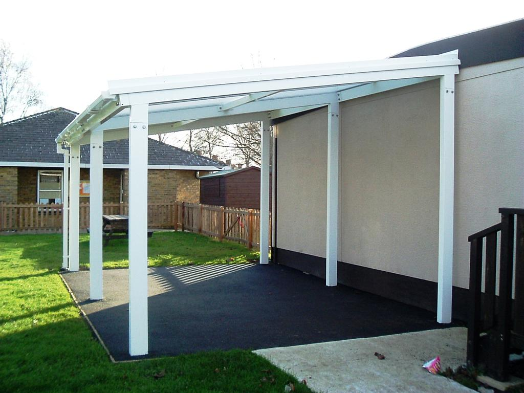 5m Powder Coated Aluminium Free Standing Canopy Lean To