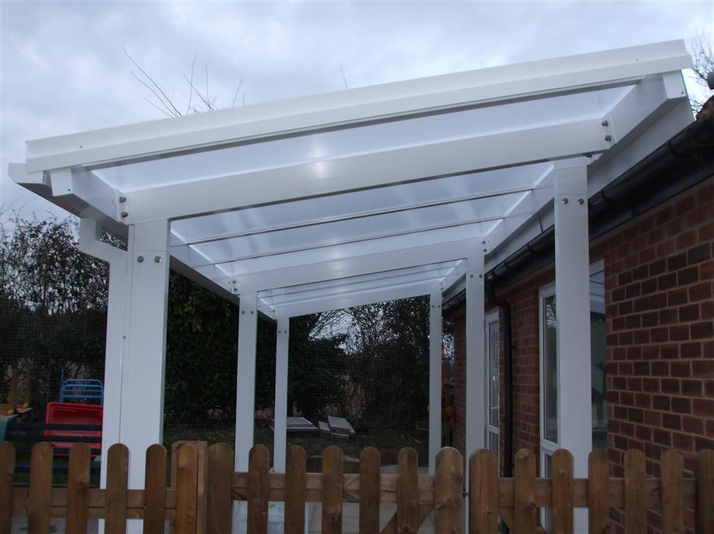 Item specifics & 2m Powder Coated Aluminium Free Standing Canopy Lean-to Patio ...