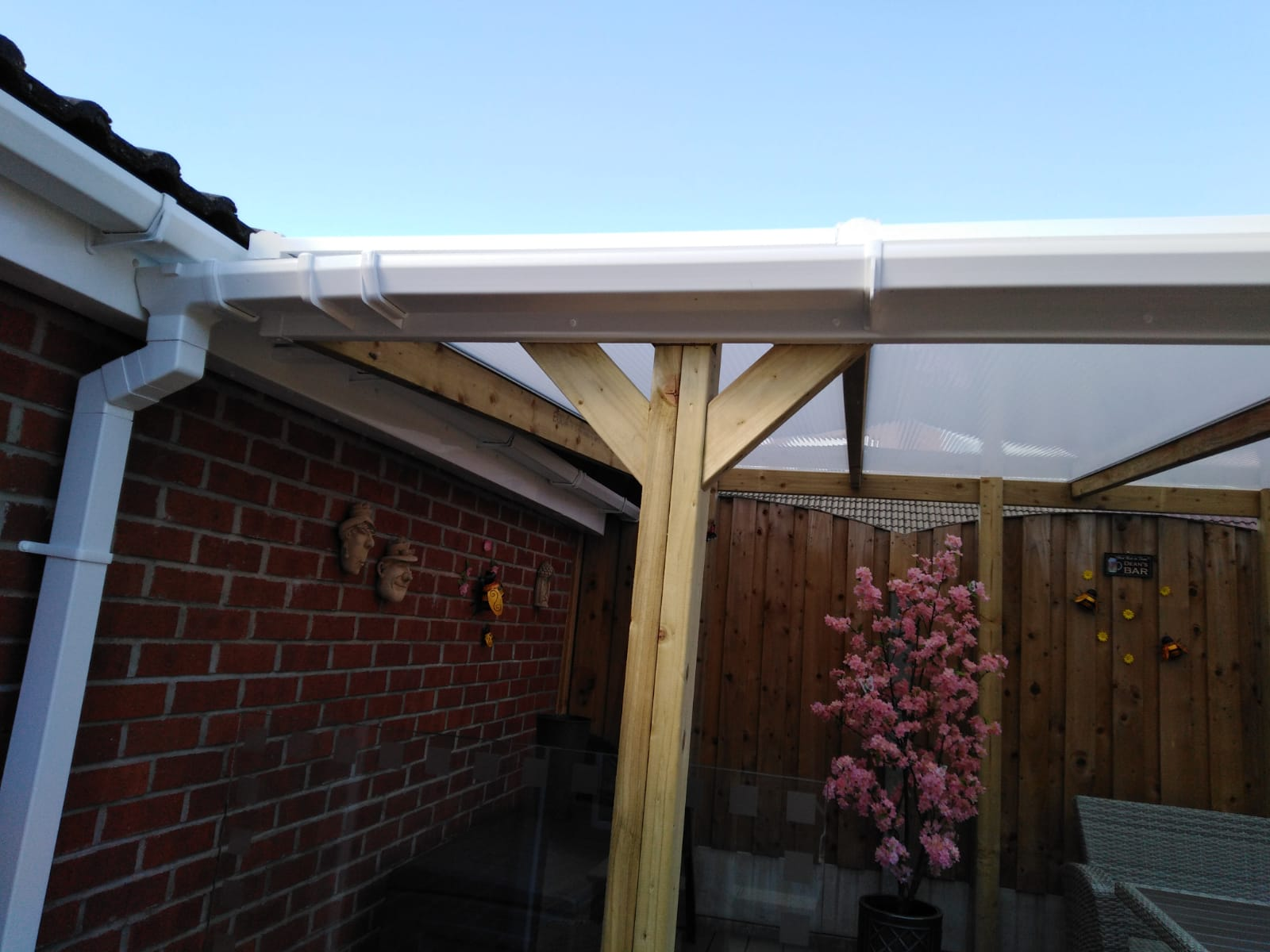 Timber framed canopy