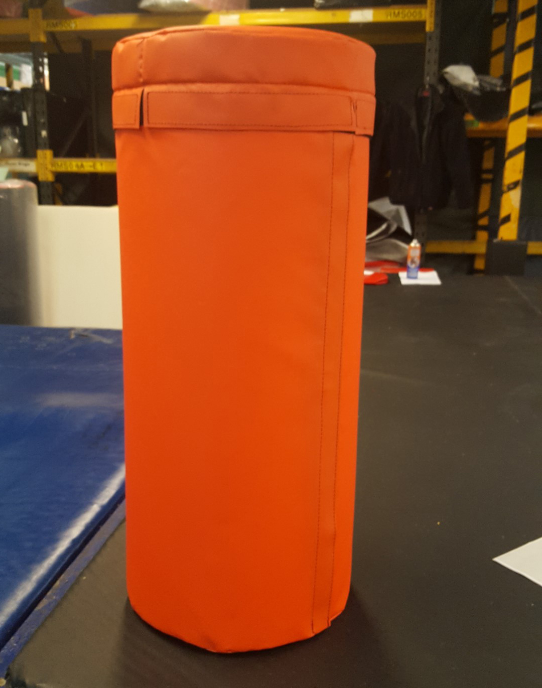 Padded post protector with a lid