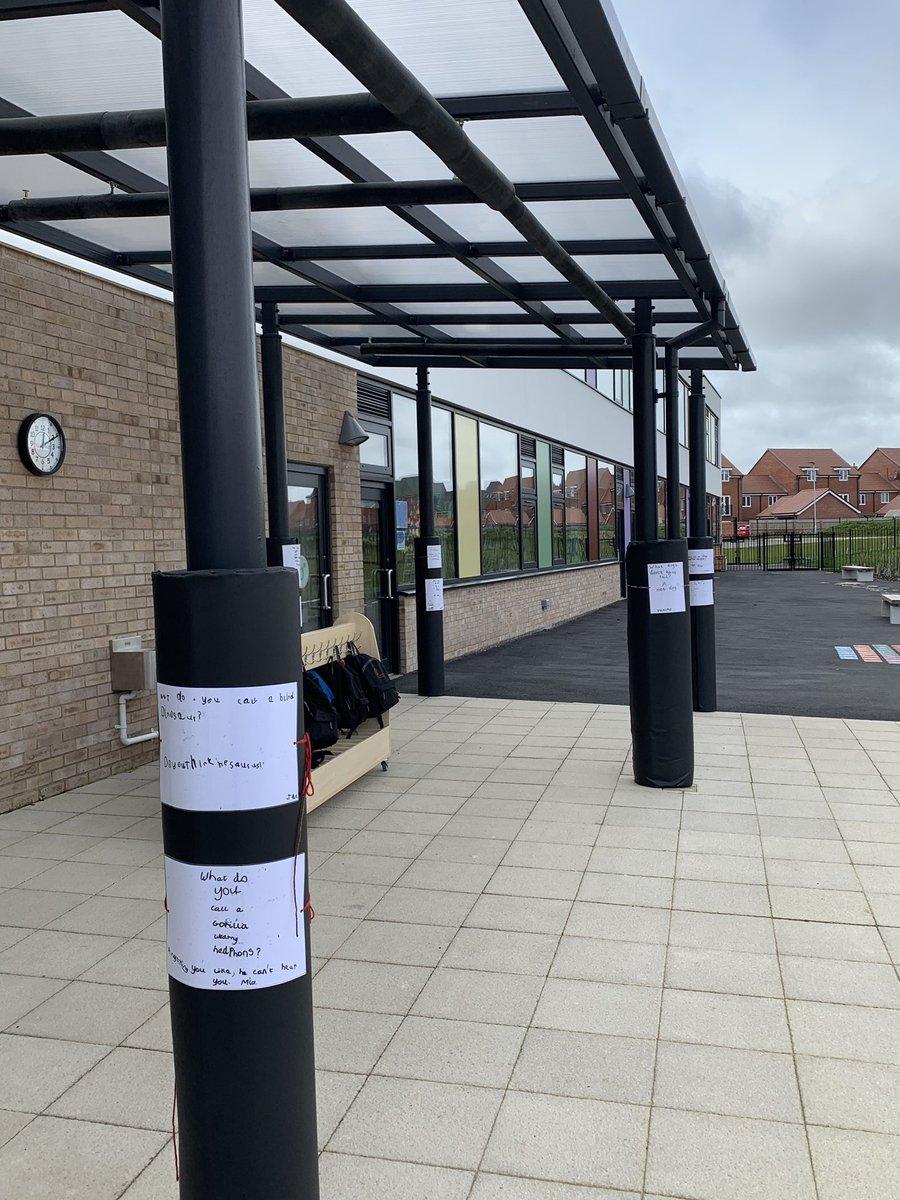 Padded post protectors at Aureus Primary School